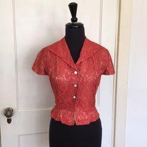 Amazing vintage Carlye Lace Shirtwaist